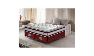 0 - Conjunto Cama Box King de Molas Ensacadas D33 com Pillow TOP